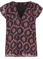 Isabel Marant Trudy Wrap-Effect Printed Devoré-Chiffon Top