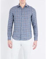 Boglioli Fitted Check-print Linen Shirt