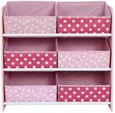 Ladybird 6-Bin Storage - Girls