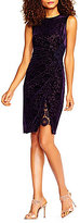 Adrianna Papell Velvet Burnout Sheath Dress