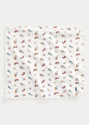 Ralph Lauren Polo Bear-Print Blanket