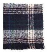 Dorothy Perkins Womens Navy Tartan Boucle Scarf- Blue