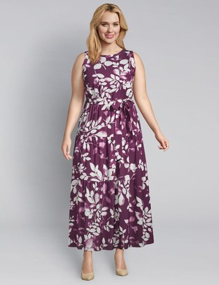 Lane Bryant Floral Tiered Maxi Dress
