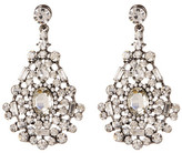 Natasha Accessories Crystal Cluster Teardrop Drop Earrings
