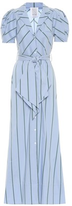 Rosie Assoulin Striped cotton-blend maxi dress