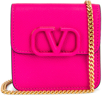 Valentino Small VSling Wallet on Chain Bag in Cyclamin Pink | FWRD