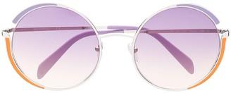 Emilio Pucci Round Frame Gradient Sunglasses
