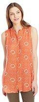 Lucky Brand Women's Batik Dot Top