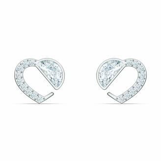 Swarovski Hear Heart Stud Pierced Earrings