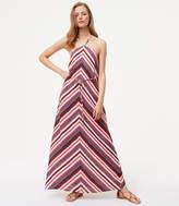 LOFT Chevron Halter Maxi Dress