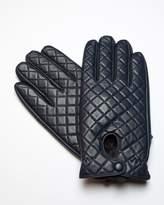 RUMI Navy Leather Gloves