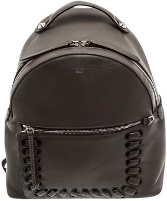 Fendi \N Grey Leather Backpacks