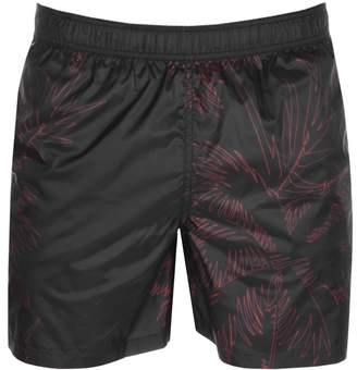 Armani Exchange Palm Swim Shorts Black