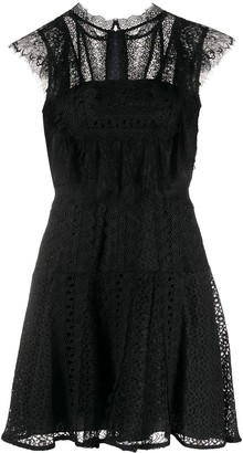 Self-Portrait Lace Panel Mini Dress