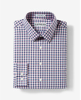 Express Slim Fit Plaid Dress Shirt