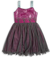 Iris & Ivy Girls 7-16 Sequined Tulle Dress