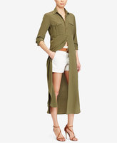 Polo Ralph Lauren Silk Crepe Shirtdress