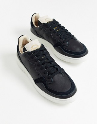 adidas Supercourt trainers in black