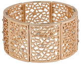 Kensie Lace Crystal-Accented Cutout Stretch Bracelet