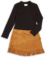 Iris & Ivy Girls 2-6x Sueded Contrast Dress
