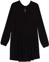 Melissa McCarthy Black Long Sleeve Hi-Low Top - Plus