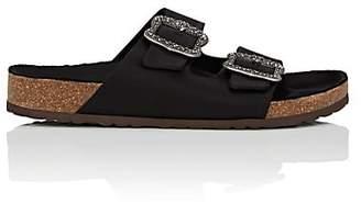 Marc Jacobs Women's Leather Buckle Slide Sandals - Black