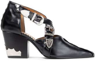 Toga Pulla Buckled Studded Leather Pumps
