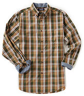 Roundtree & Yorke Casuals Big & Tall Long-Sleeve Plaid Sportshirt