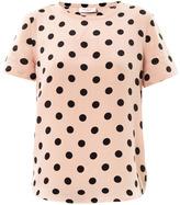 Equipment Riley polka-dot silk T-shirt