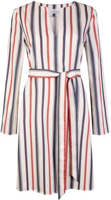 Cat Turner London Red, White And Blue Striped Kaftan Dress