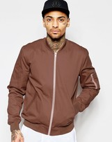 Asos Bomber Jacket In Dusty Pink