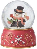 Precious Moments Caroling Snowman Musical Christmas Snow Globe