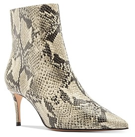 Schutz Women's Bette Snake-Embossed High-Heel Booties