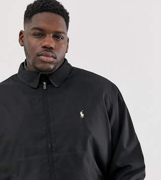 Polo Ralph Lauren Big & Tall Bi-Swing player logo harrington jacket in black