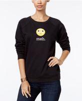 Freeze 24-7 Juniors' Meh Emoji Graphic Sweatshirt