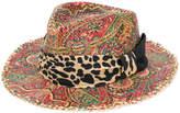Etro mixed print woven sunhat