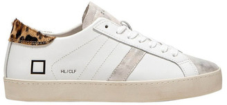 D.A.T.E Hill Low Calf Wh-Leopard Sneaker
