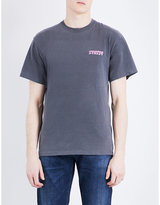 Stussy Global Logo-print Cotton-jersey T-shirt