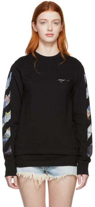 Off-White Black Diag Arrows Long Sleeve T-Shirt
