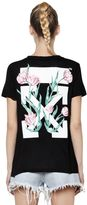 Off-White Arrows & Tulips Cotton Jersey T-Shirt