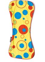 CoZibug Baby Solar Drip Drool Bib and Burp Cloth Set, Yellow