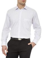 Geoffrey Beene Stretch Collar Donald Stripe Shirt