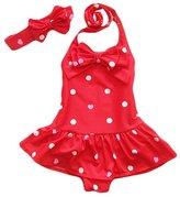 Jastore® Baby Girls Swimwear One Piece Swimsuits Beach Wear with Headband (12-24 Months, )