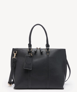 Sole Society Women's Lacie Tote Vegan Leather Tote Black From