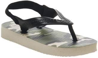 Havaianas Baby Brazil Flip Flops Camo Beige Black