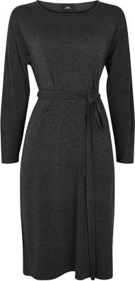 Wallis Grey Belted Waist Midi Dress