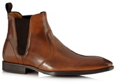 Jeff Banks Designer Tan High Shine Leather Chelsea Boots