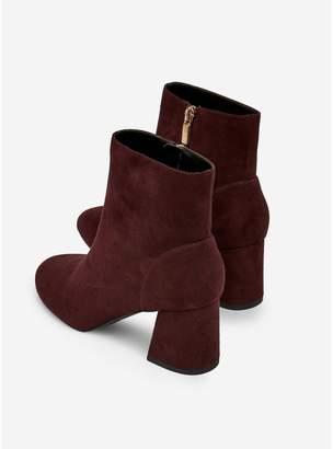 Dorothy Perkins Wide Fit Addie Block Heel Ankle Boots - Oxblood