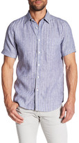 Gilded Age Houston Short Sleeve Classic Tapered Fit Linen Shirt