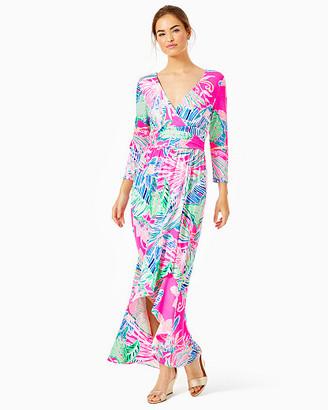 Lilly Pulitzer Montague Wrap Maxi Dress